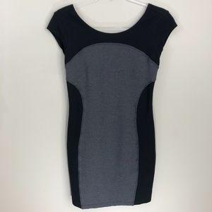 Athleta Gray Black Illusion Bodycon Dress XXS